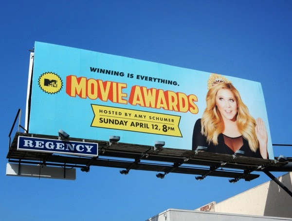 Amy Schumer MTV Movie Awards 2015 billboard