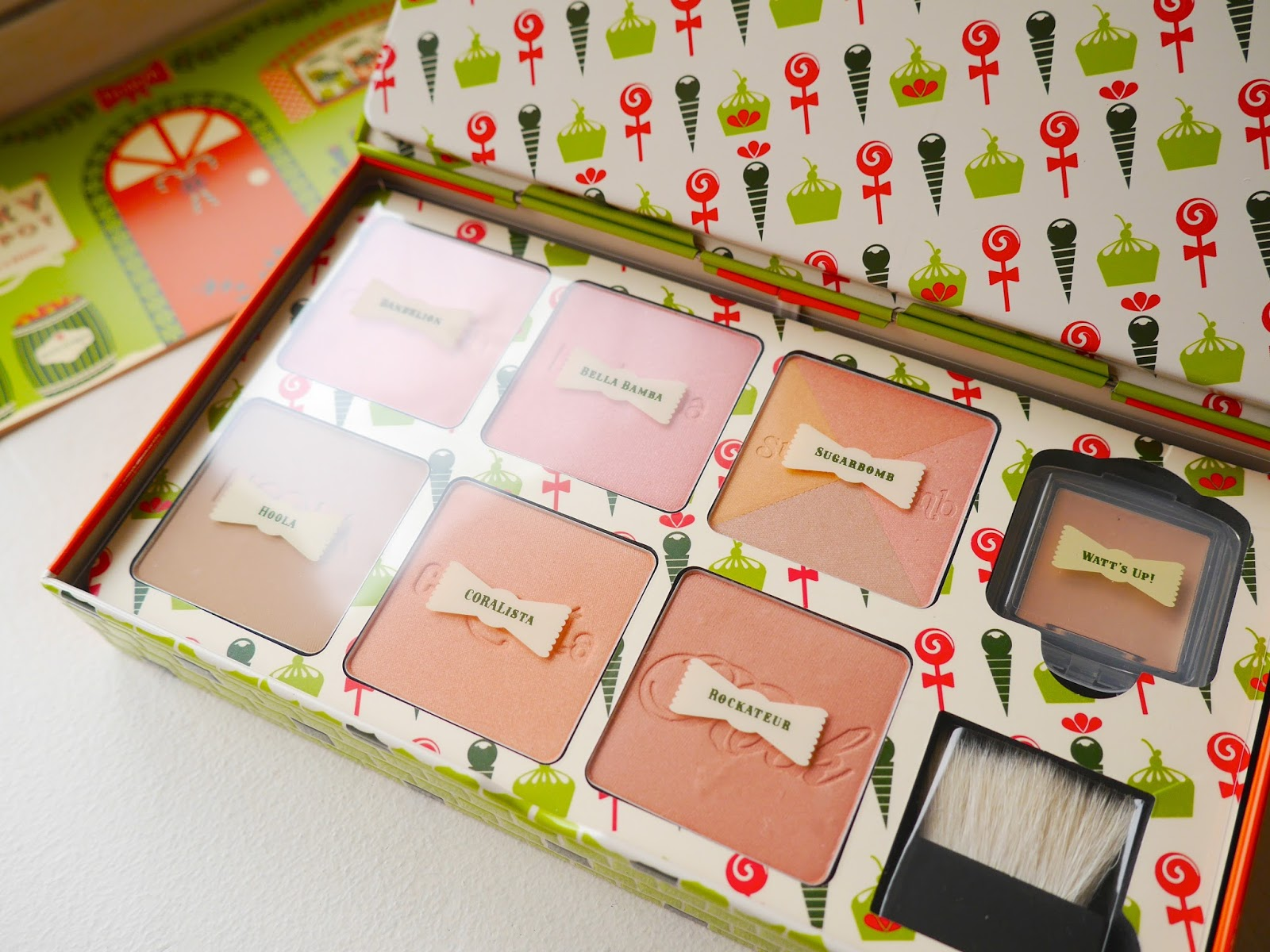 Benefit Cheeky Sweet Spot Box O'Blushes review swatch