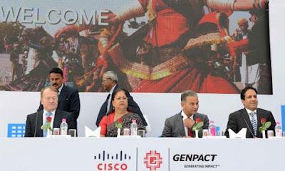 Jaipur, Rajasthan, Chief Minister of Rajasthan, Vasundhara Raje, Digital Economy, Digital India, Genpact, Cisco