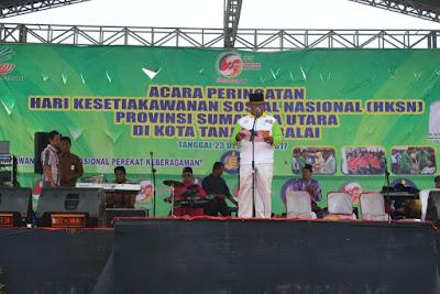 Plt. Kakankemenag Tanjungbalai Pimpin Doa Pada Acara HKSN