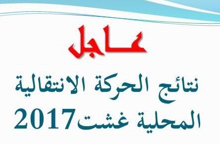 نتائج الحركة الانتقالية الإقليمية بمديرية أزيلال 2017