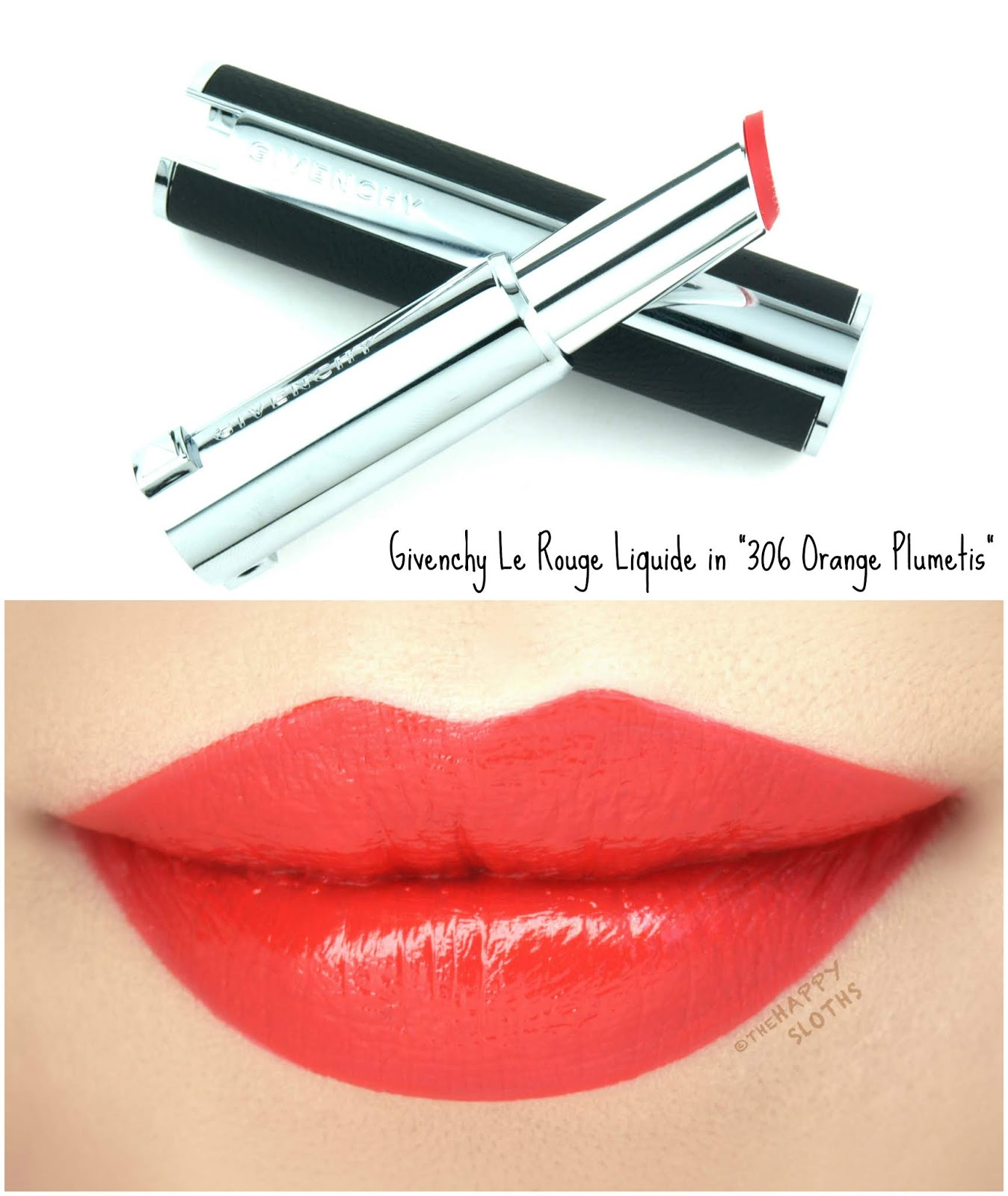 "Givenchy | Le Rouge Liquide in ""306 Orange Plumetis"": Review and Swatches"