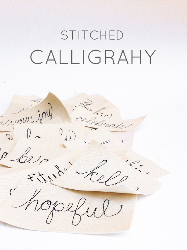 stitched calligraphy | Mama Bleu Designs