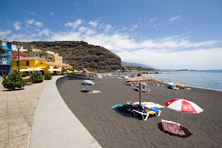 Beach and apartments at Tazacorte
