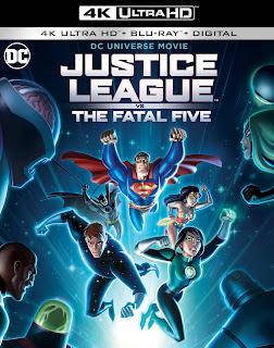 Justice League Vs. The Fatal Five 4K UHD, Blu-Ray, Digital
