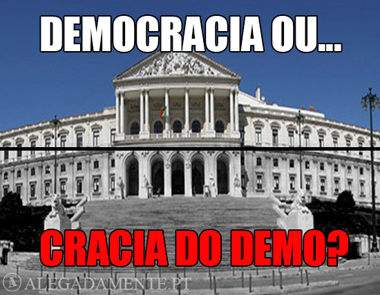 Imagem da Assembleia da República – Democracia ou cracia do Demo?