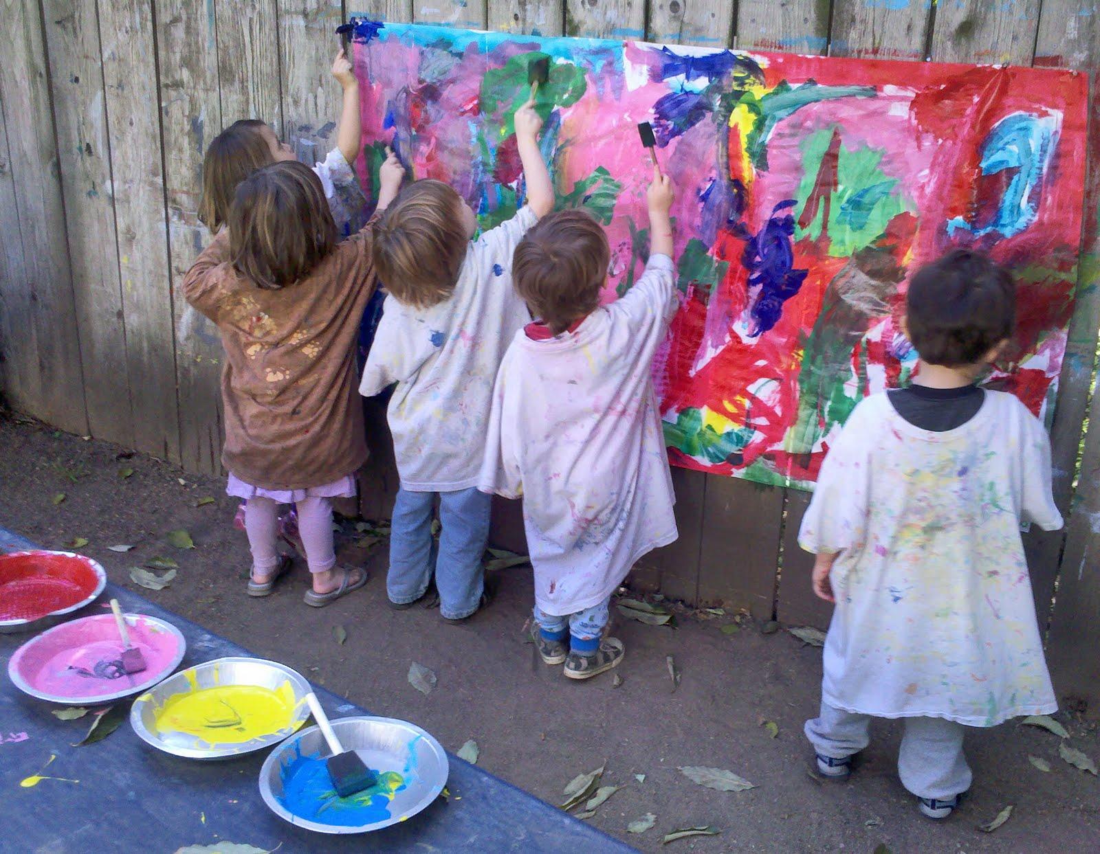 Warner Family Preschool Painting