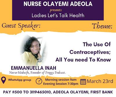 Nurse Olayemi Adeola's webinar