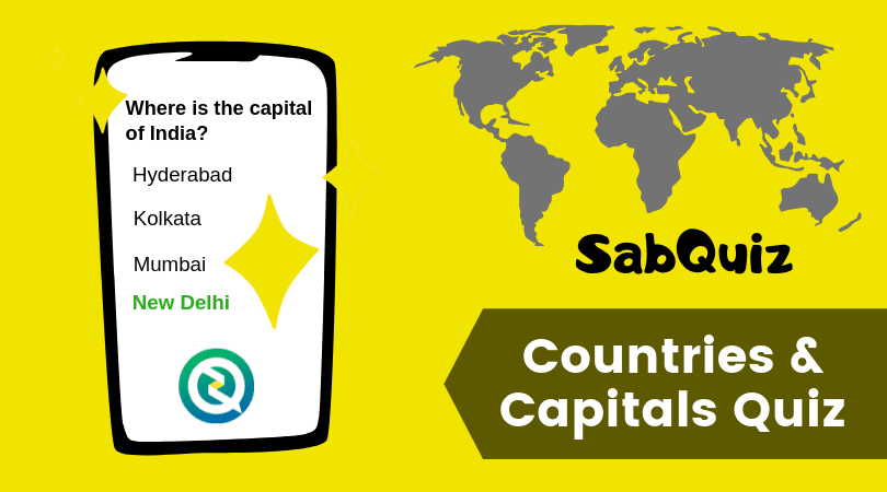 Countries and Capital Quiz, Countries by Capital