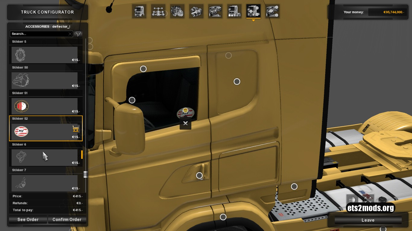 Stickers for Scania RJL