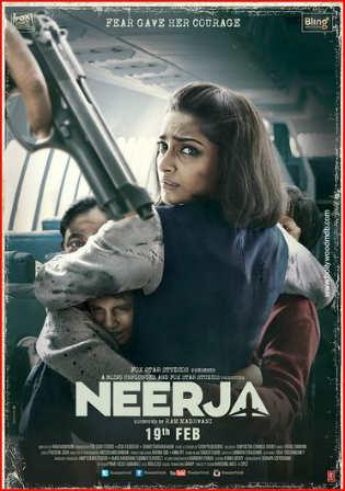 Neerja 2016 WEB-DL 350MB Full Hindi Movie Download 480p Watch Online Free bolly4u