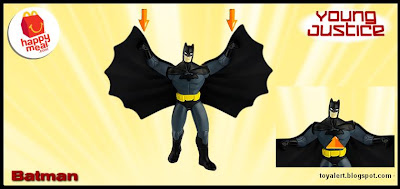 McDonalds Young Justice and Littlest Pet Shop happy meal toy promotion 2011 - Batman