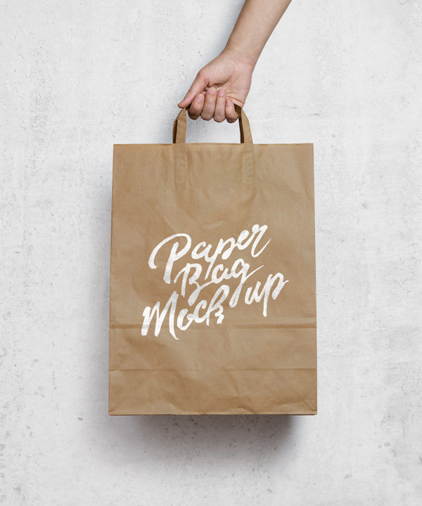 Download Packaging Mockup PSD Terbaru Gratis - Brown Paper Bag MockUp