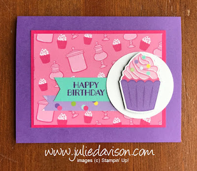 Stampin' Up! Sweetest Thing ~ How Sweet It Is Designer Paper ~ 2019 Occasions Catalog ~ #GDP179 ~ www.juliedavison.com