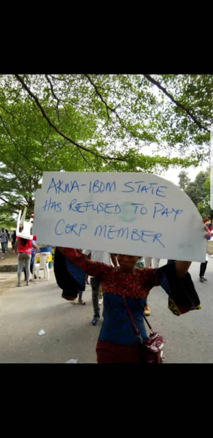 Pay us our money or we will not work for INEC: Corp members Akwa Ibom