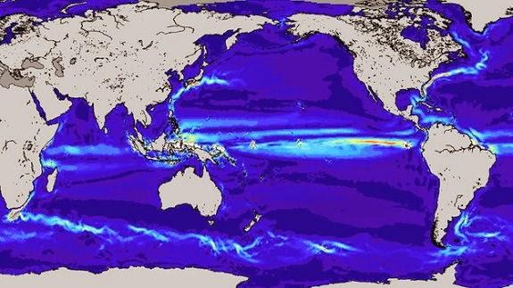Model of ocean current speeds created from GOCE satellite data