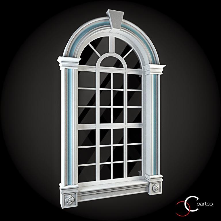 Ornamente Geamuri Exterior, Arcada, fatade case cu profile decorative polistiren, profile fatada,  Model Cod: WIN-072