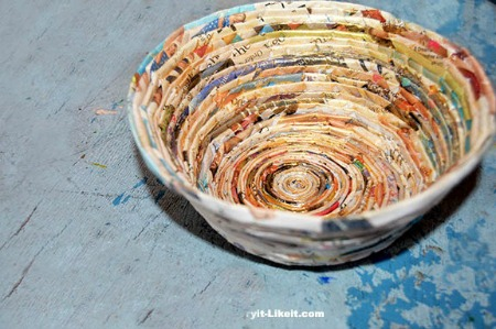 Recycled Magazine Paper Bowl by Try It Like It