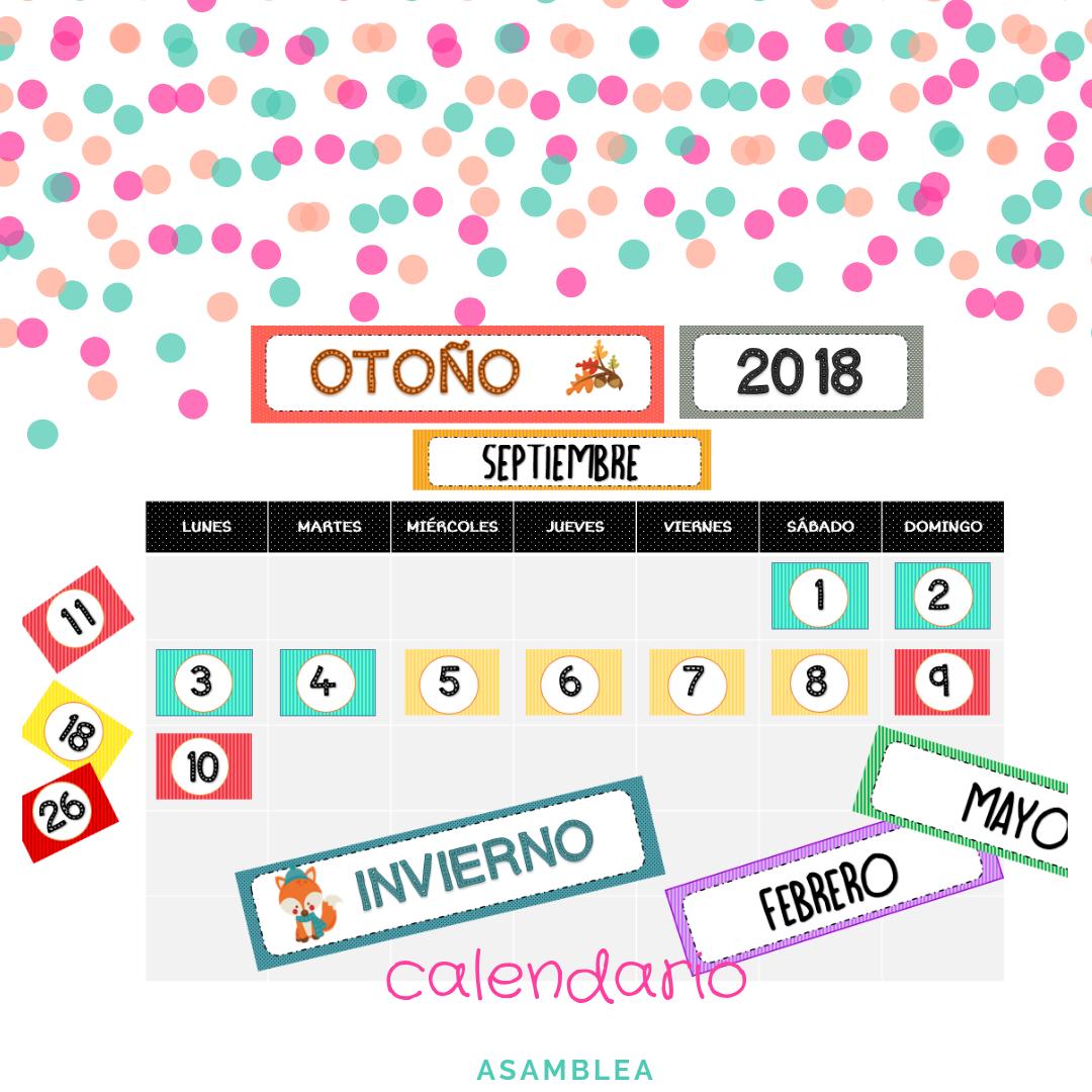 calendario 2018 vuelta al cole la tiza de carol