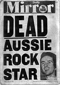 Bon Scott dead at age 33... February 19, 1980