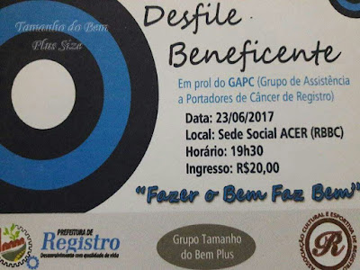 Desfile Beneficente do GAPC na ACER em Registro-SP