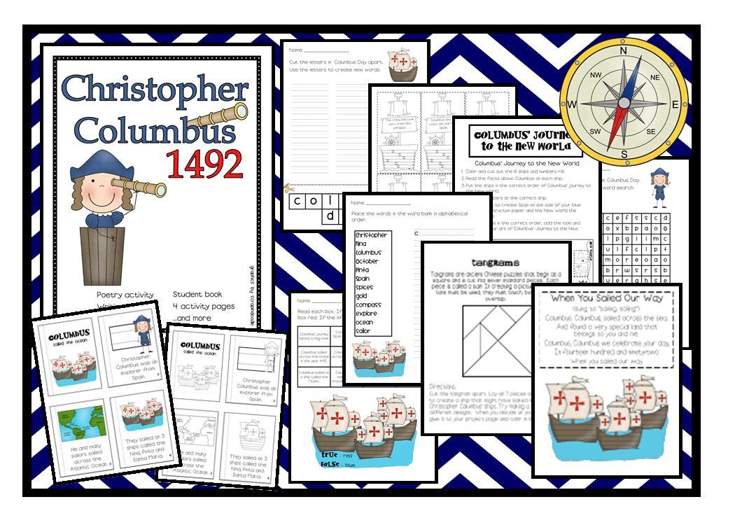 Lory's 2nd Grade Skills: Columbus Day [ 750 x 1050 Pixel ]