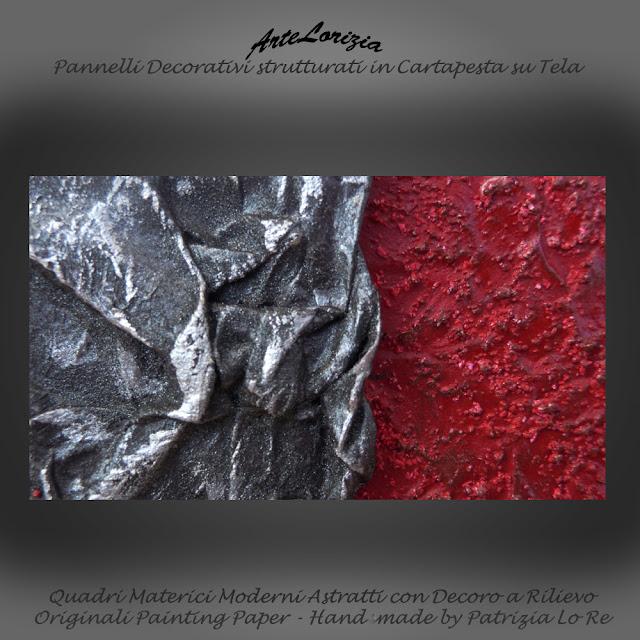 Dipinti materici astratti e complementi d 39 arredo la for Arte nell arredo