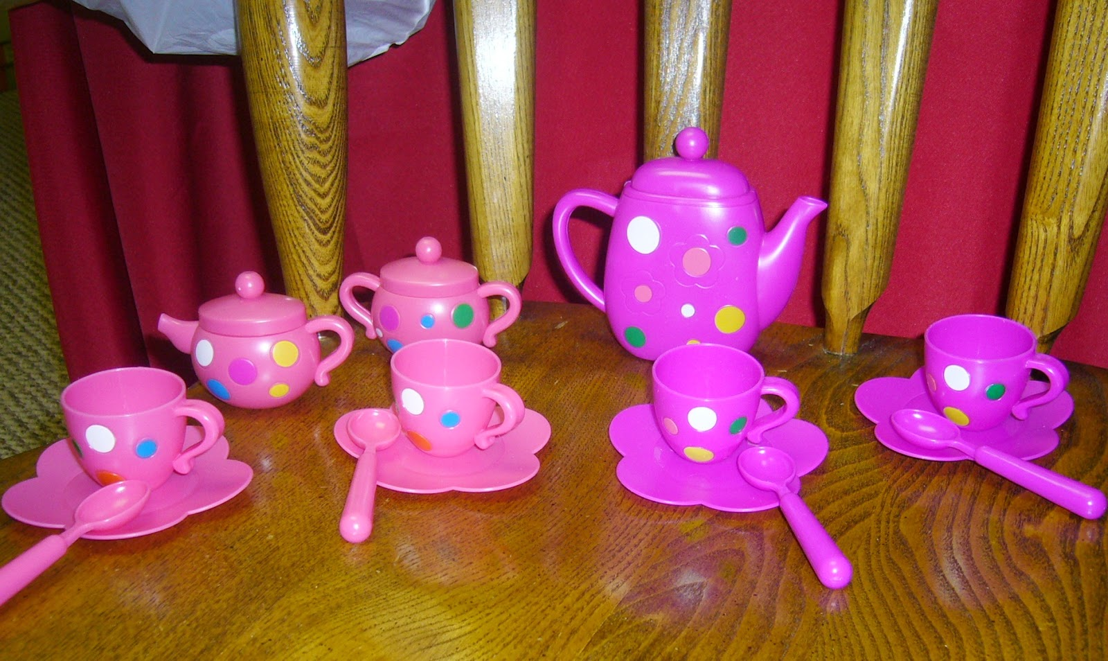 Child's tea set for an OCC shoebox.