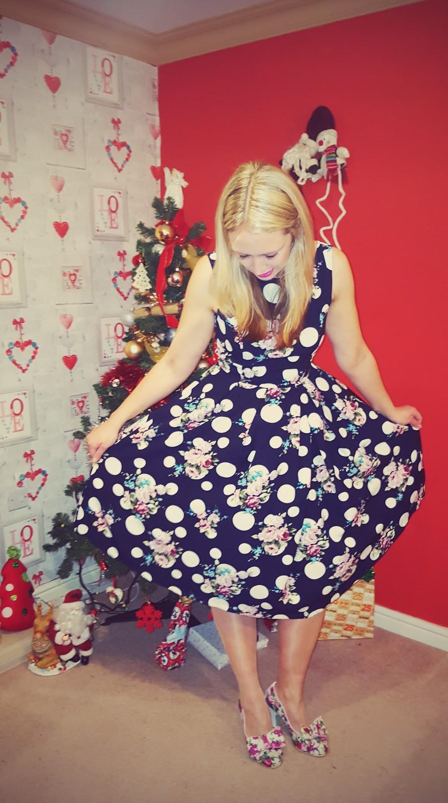 Rockin Around The Christmas Tree In A Polka Dot Dress...