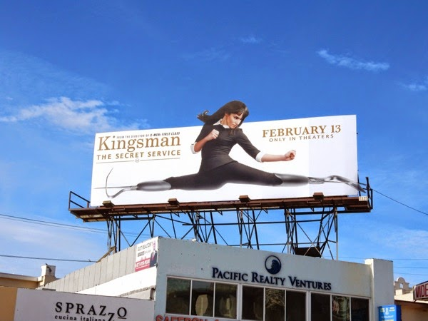 Kingsman Secret Service Gazelle billboard