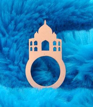 anel de borracha Taj Mahal DesignTUN
