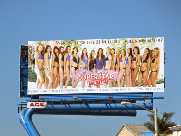 Model Turned Superstar Mexico billboard