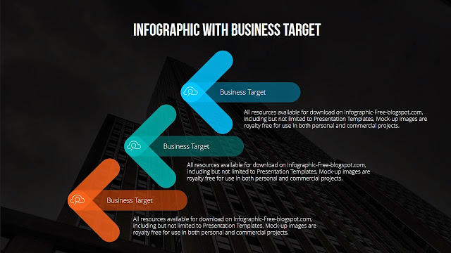 Arrow Banners PowerPoint Template for Business Target