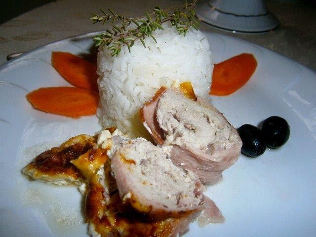 joghurtos sertés szelet rizzsel