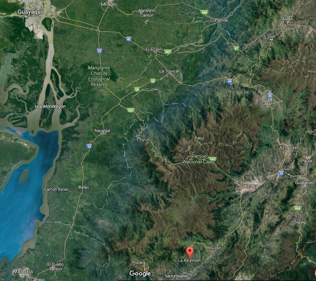 Google Map of La Asuncion Location