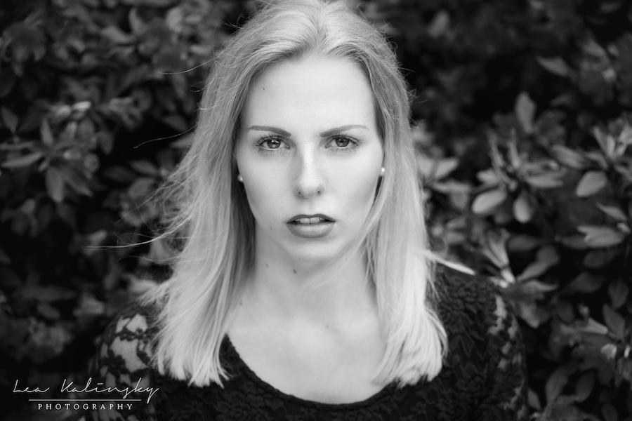 ausdrucksstarkes Foto in schwarz weiß