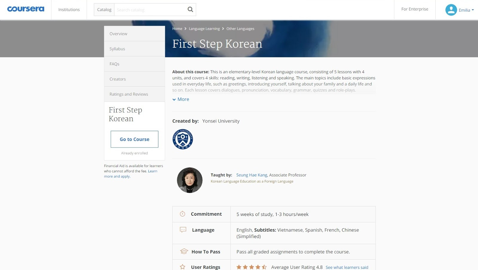 How learning korean changed my mind about learning foreign languages i believe that this only means they are not driven enough to learn their passion toward the subject is not great enough i finished the course with a grade kristyandbryce Images