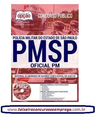 Saiu edital concurso Aluno-Oficial PM - PM/SP 2019