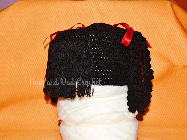 Crochet, Black Lalaloopsy Hat