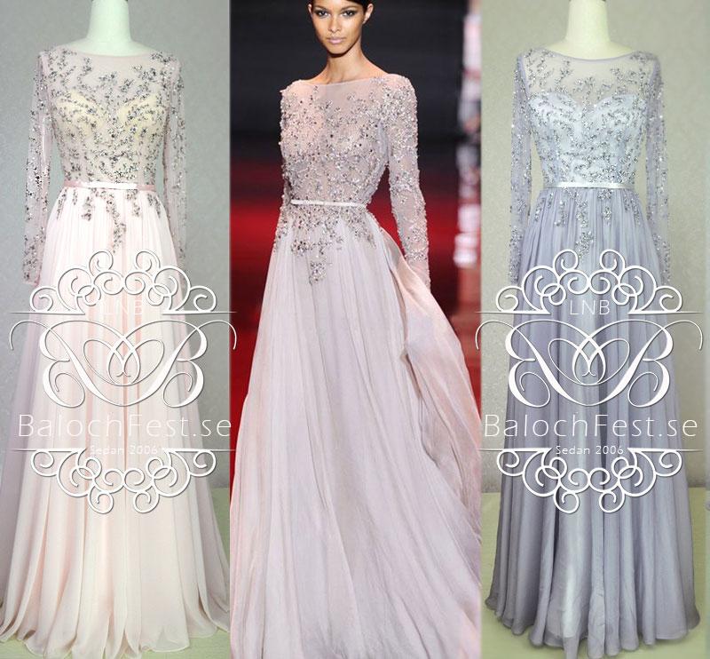 Festklänning med lång ärm cc555530e829a