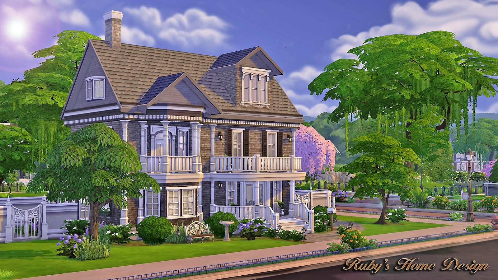 Sims4 The Chocolate House 巧克力屋(No CC) - Ruby's Home Design