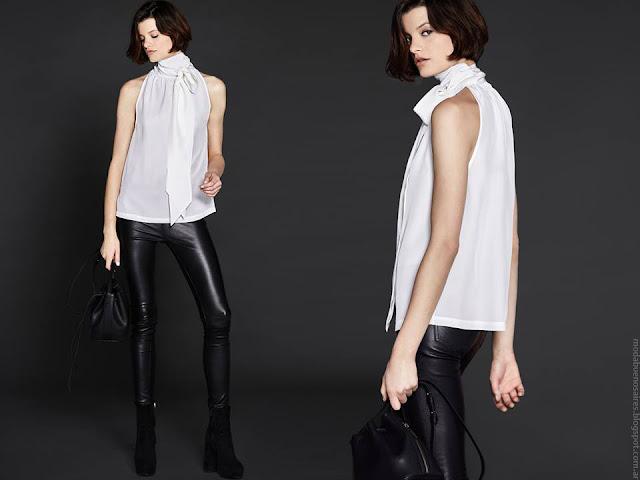 Blusas y tops invierno 2016 de seda. Etiqueta Negra Mujer.