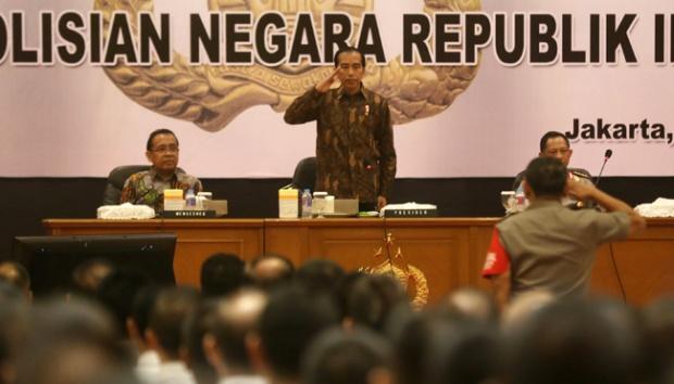 Presiden Jokowi: Tidak Boleh Polri Kalah oleh Kelompok Kecil