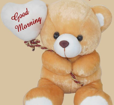 Good morning teddy bear images for facebook - light yellow colour