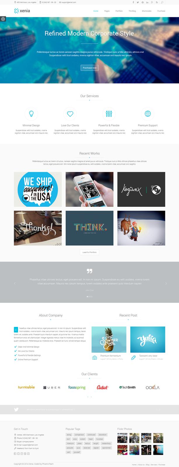 Free WordPress Corporate Theme