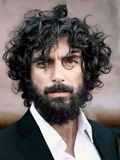 Facial Hairstyles for Men with Curly Haircut
