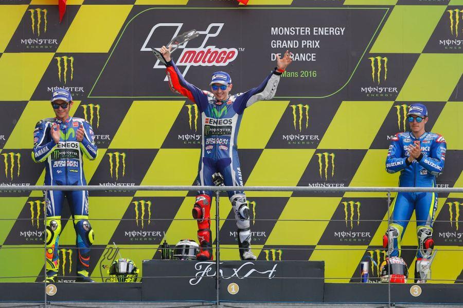 MotoGP 2016 Bugatti Le Mans France Podium