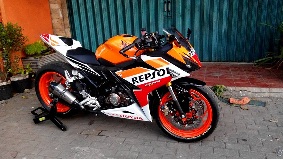 modifikasi all new cbr 150 repsol terpopuler