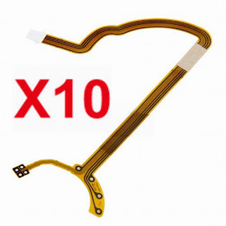 10 pcs Lens Shutter Diaphragm flat Flex Cable Repair for Canon EF-S 17-85mm F/4