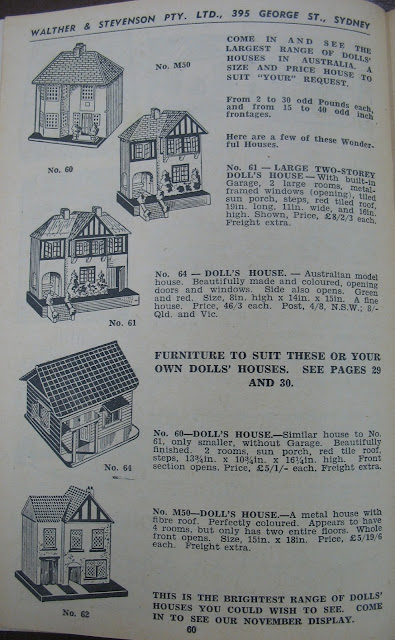 e0a0c6937bd0 A Triang No 50, No 60 and No 61, with one Australian-made dolls house  shown, just above an Amersham house: